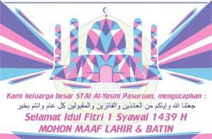 Selamat Idul Fitri 1 Syawal 1439 H Alyasini al yasini Pasuruan